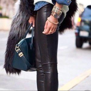NWOT Michael Kors Faux Leather Leggings